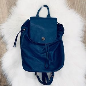 Tory Burch Blue Leather Backpack